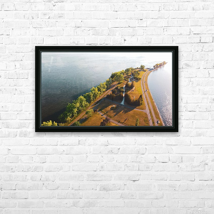 West River Shore HD Sublimation Metal print with Decorating Float Frame (BOX)