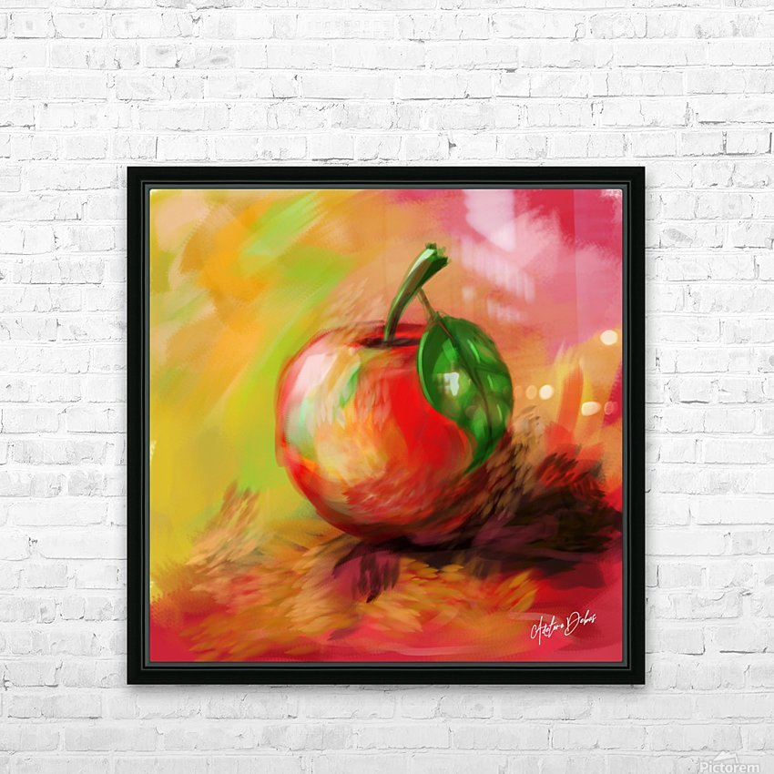 Apple HD Sublimation Metal print with Decorating Float Frame (BOX)