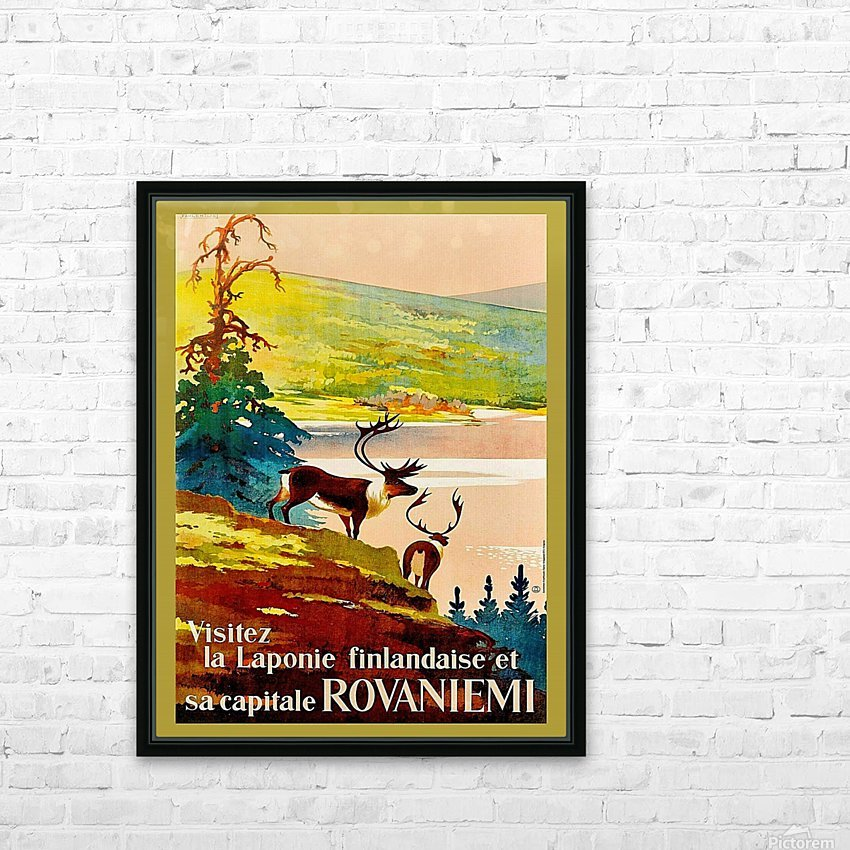 Rovaniemi HD Sublimation Metal print with Decorating Float Frame (BOX)
