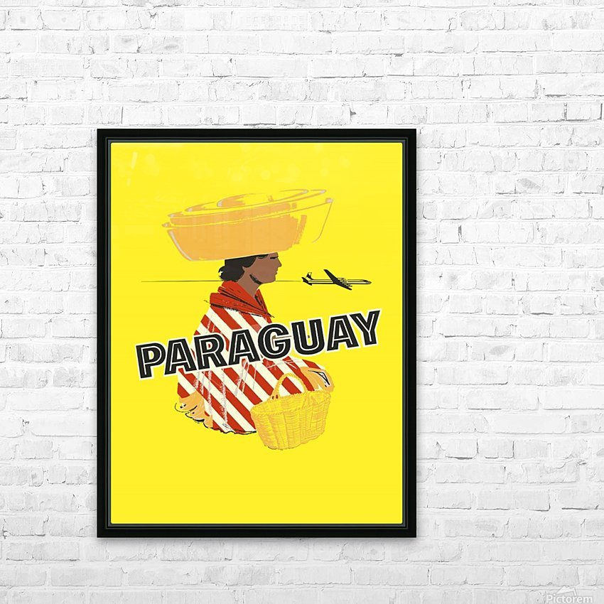 Paraguay HD Sublimation Metal print with Decorating Float Frame (BOX)