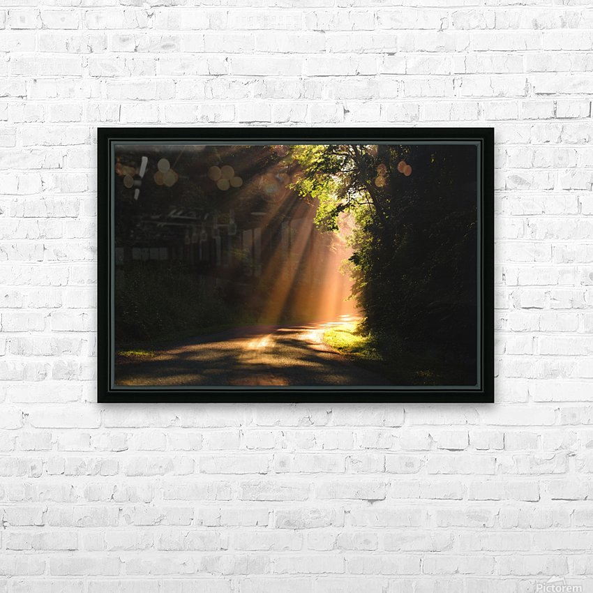 Morning Rays HD Sublimation Metal print with Decorating Float Frame (BOX)