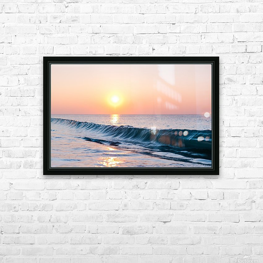Smooth Wave  HD Sublimation Metal print with Decorating Float Frame (BOX)