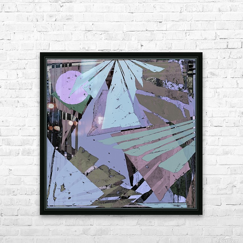 Broken window pane HD Sublimation Metal print with Decorating Float Frame (BOX)