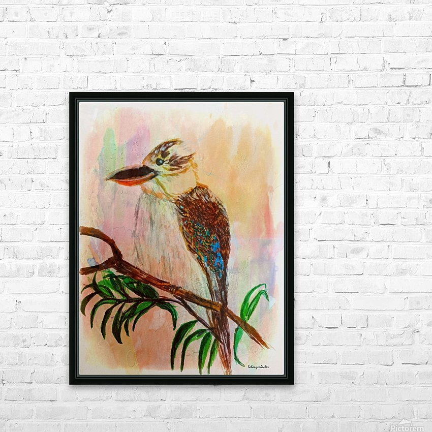 Kookaburra Bird  HD Sublimation Metal print with Decorating Float Frame (BOX)