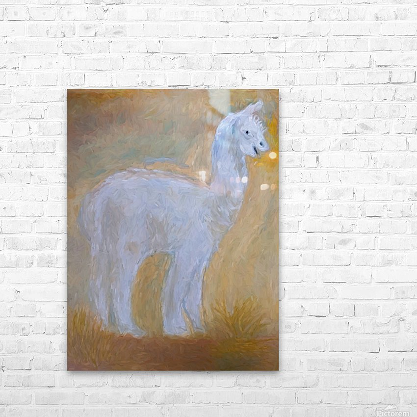 LLama HD Sublimation Metal print with Decorating Float Frame (BOX)