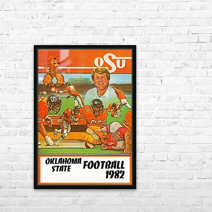 1982 oklahoma state cowboys football HD Sublimation Metal print with Decorating Float Frame (BOX)