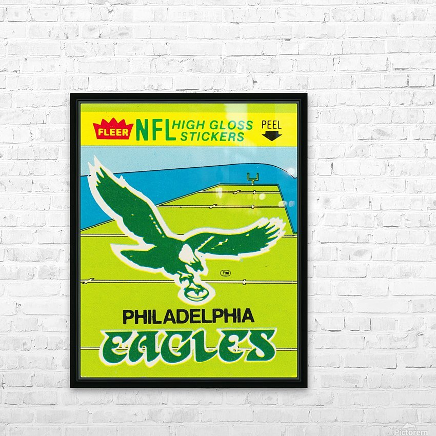 1981 fleer nfl high gloss stickers philadelphia eagles wall art HD Sublimation Metal print with Decorating Float Frame (BOX)