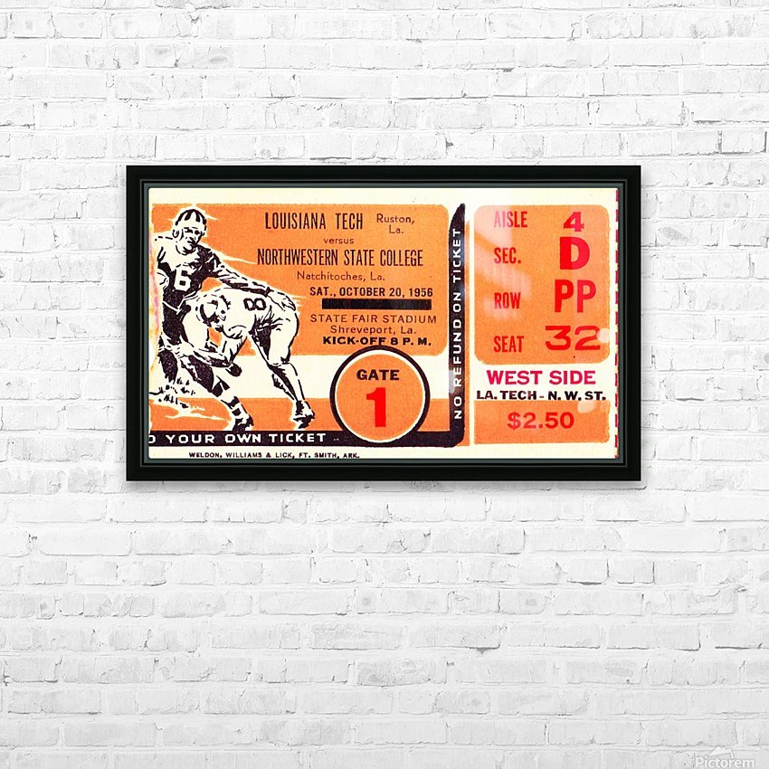 1956 Louisiana Tech vs. Northwestern State HD Sublimation Metal print with Decorating Float Frame (BOX)
