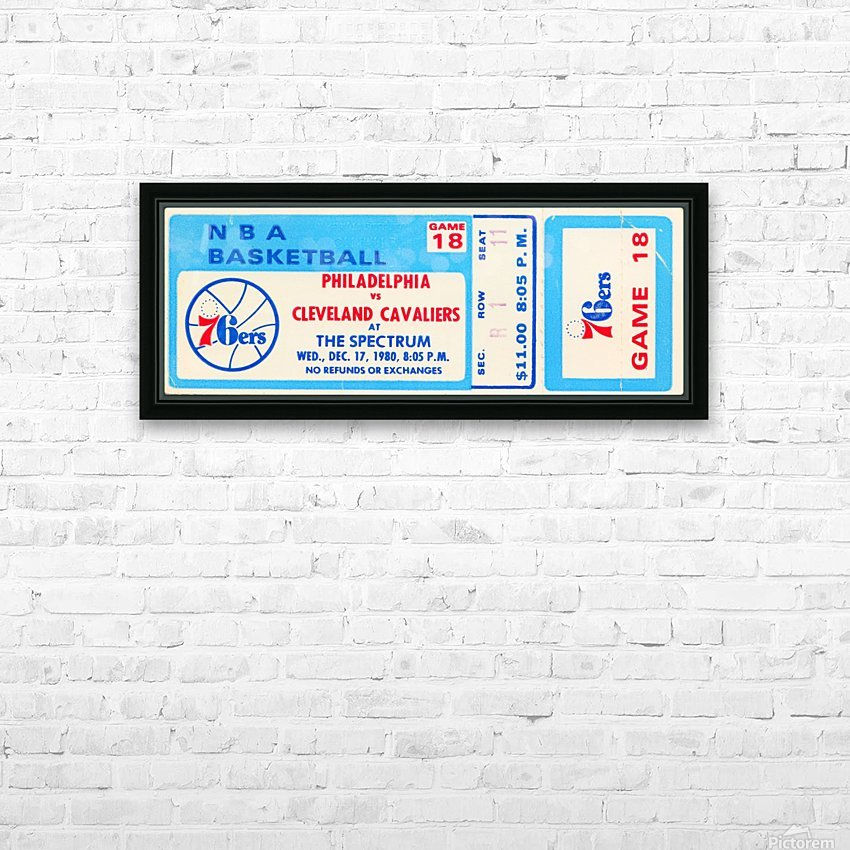 1980 cleveland cavaliers philadelphia 76ers nba basketball ticket art HD Sublimation Metal print with Decorating Float Frame (BOX)