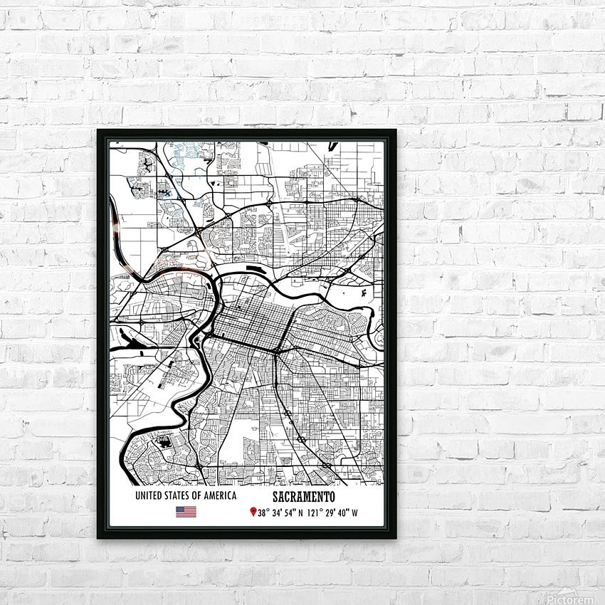 Sacramento USA HD Sublimation Metal print with Decorating Float Frame (BOX)