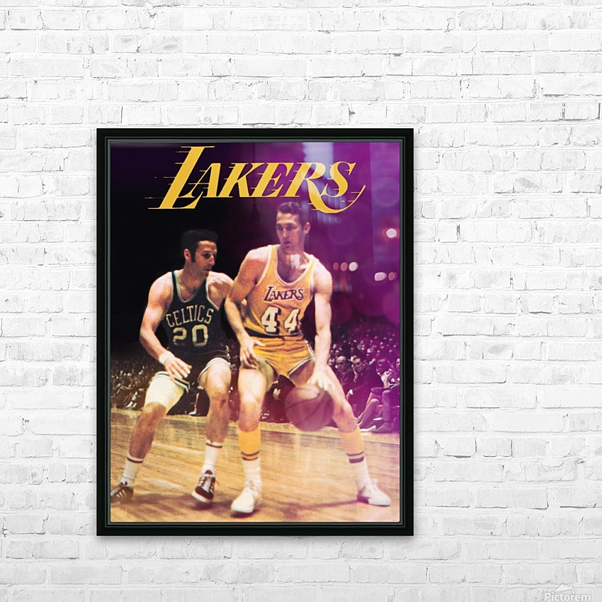 1969 los angeles la lakers jerry west poster HD Sublimation Metal print with Decorating Float Frame (BOX)