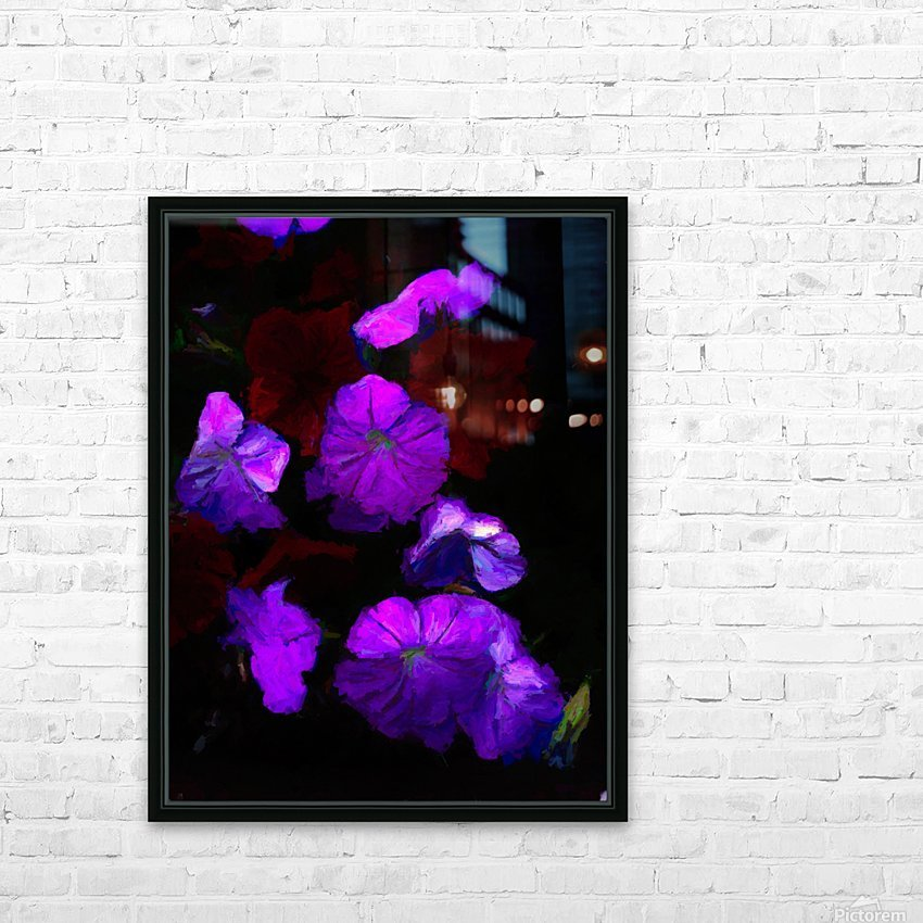 Evening Flowers HD Sublimation Metal print with Decorating Float Frame (BOX)