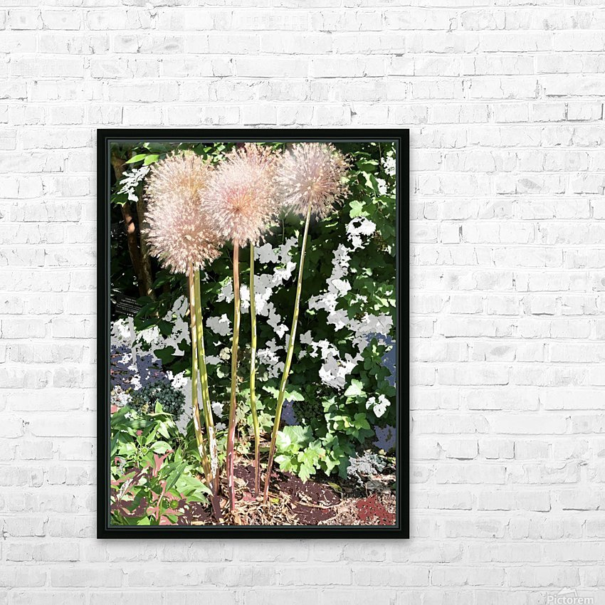 Alium Burst 200724 HD Sublimation Metal print with Decorating Float Frame (BOX)