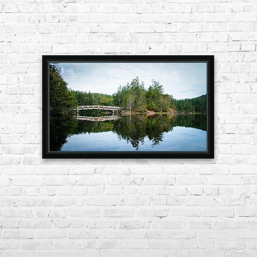 Beautiful Arch Bridge HD Sublimation Metal print with Decorating Float Frame (BOX)
