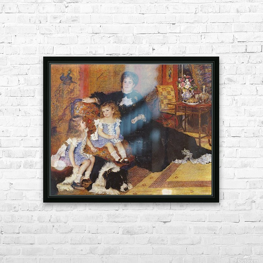Madame Charpentier and her children HD Sublimation Metal print with Decorating Float Frame (BOX)