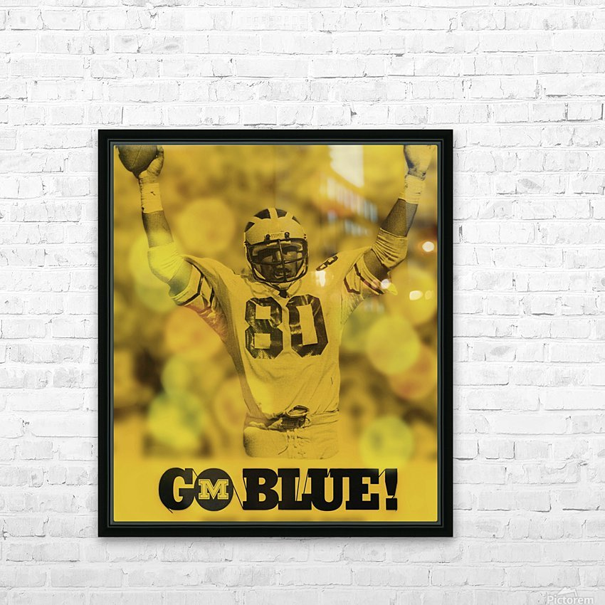 1979 michigan football go blue HD Sublimation Metal print with Decorating Float Frame (BOX)