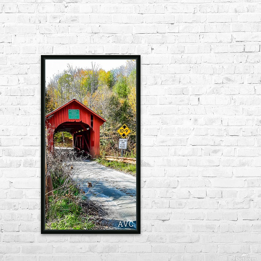 Slaughterhouse Bridge Northfield VT-- Autumn HD Sublimation Metal print with Decorating Float Frame (BOX)
