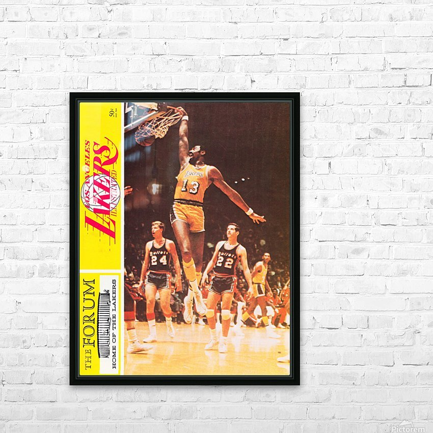 1968 la lakers basketball poster wilt chamberlain dunk photo HD Sublimation Metal print with Decorating Float Frame (BOX)