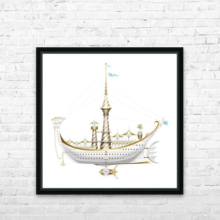 Gondolino Castellini HD Sublimation Metal print with Decorating Float Frame (BOX)
