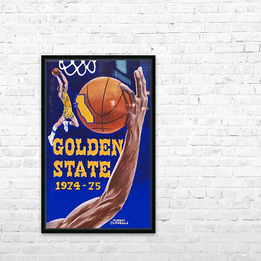1974 golden state warriors basketball art murray olderman artist HD Sublimation Metal print with Decorating Float Frame (BOX)