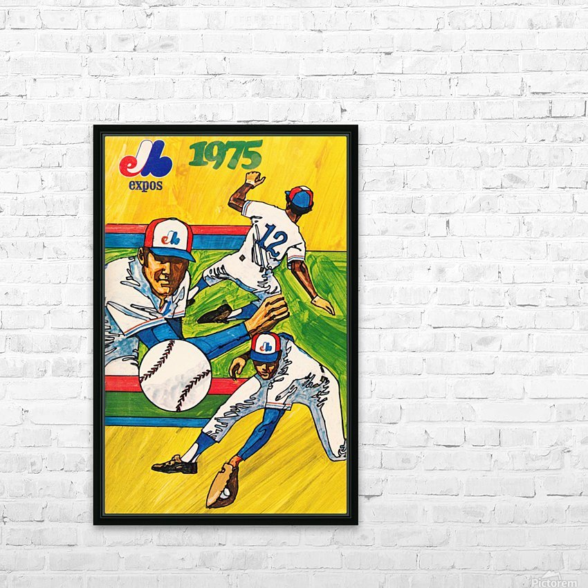1975 montreal expos baseball art HD Sublimation Metal print with Decorating Float Frame (BOX)