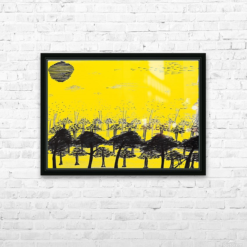 Trees vs sun HD Sublimation Metal print with Decorating Float Frame (BOX)