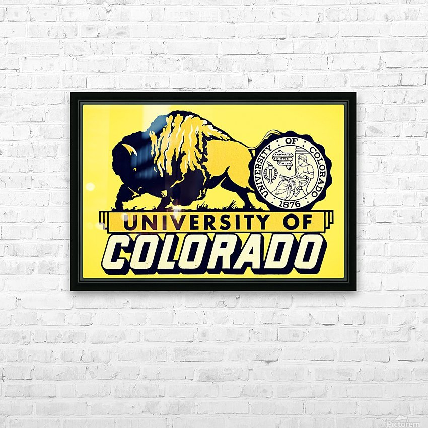 1950s vintage college art university of colorado buffaloes boulder HD Sublimation Metal print with Decorating Float Frame (BOX)