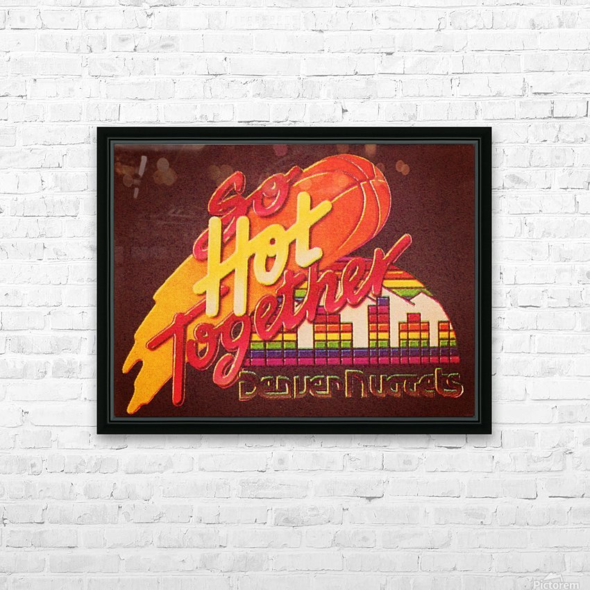 1988_National Basketball Association_Denver Nuggets HD Sublimation Metal print with Decorating Float Frame (BOX)