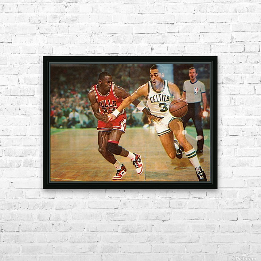 1985 Dennis Johnson vs. Michael Jordan HD Sublimation Metal print with Decorating Float Frame (BOX)