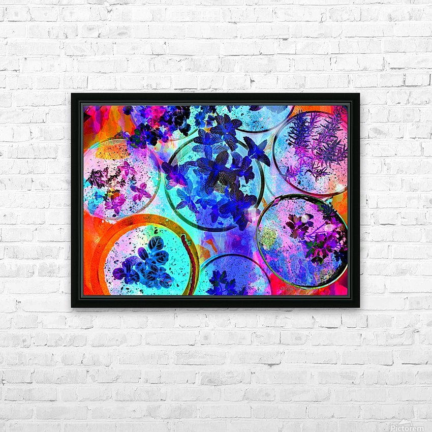 Psychedelic Herbs HD Sublimation Metal print with Decorating Float Frame (BOX)
