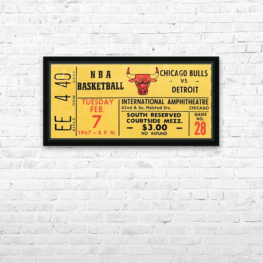 1967 Chicago Bulls 1st Season Ticket Art HD Sublimation Metal print with Decorating Float Frame (BOX)