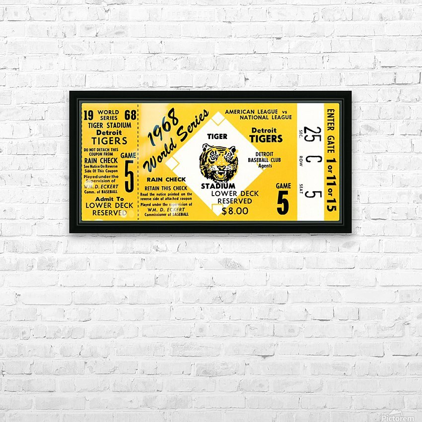 1968 Detroit Tigers World Series Ticket Art HD Sublimation Metal print with Decorating Float Frame (BOX)