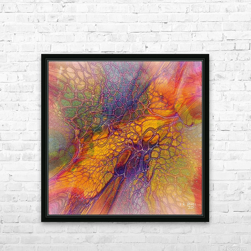 artabstract mix10 HD Sublimation Metal print with Decorating Float Frame (BOX)