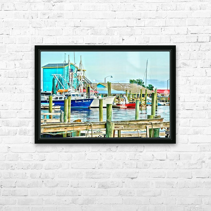 Fishy Fish  Cafe Harbor View HD Sublimation Metal print with Decorating Float Frame (BOX)