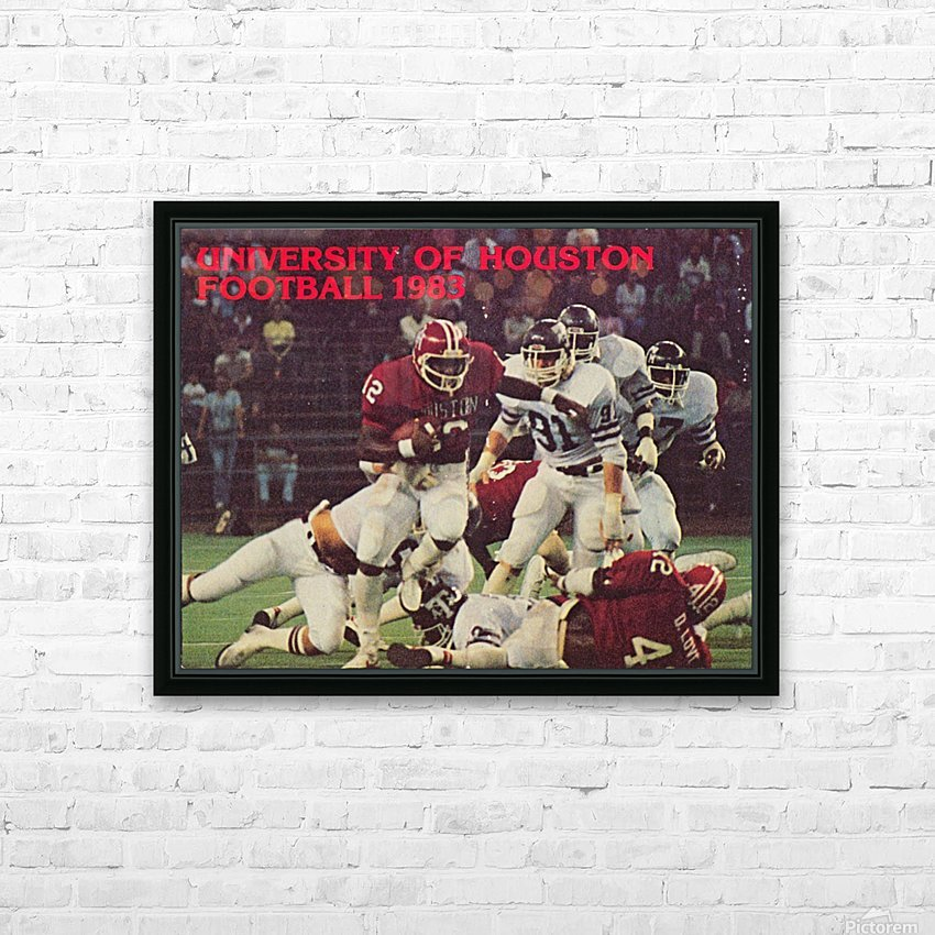 1983 houston cougars football HD Sublimation Metal print with Decorating Float Frame (BOX)
