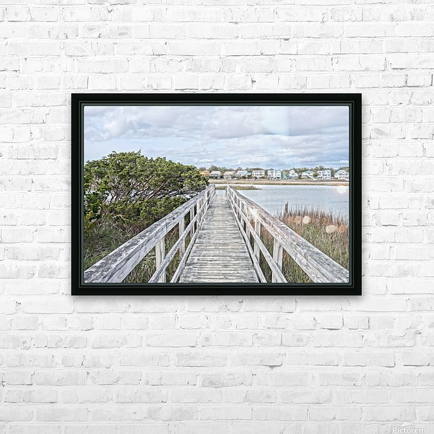 Oak Island Inlet Walkway HD Sublimation Metal print with Decorating Float Frame (BOX)