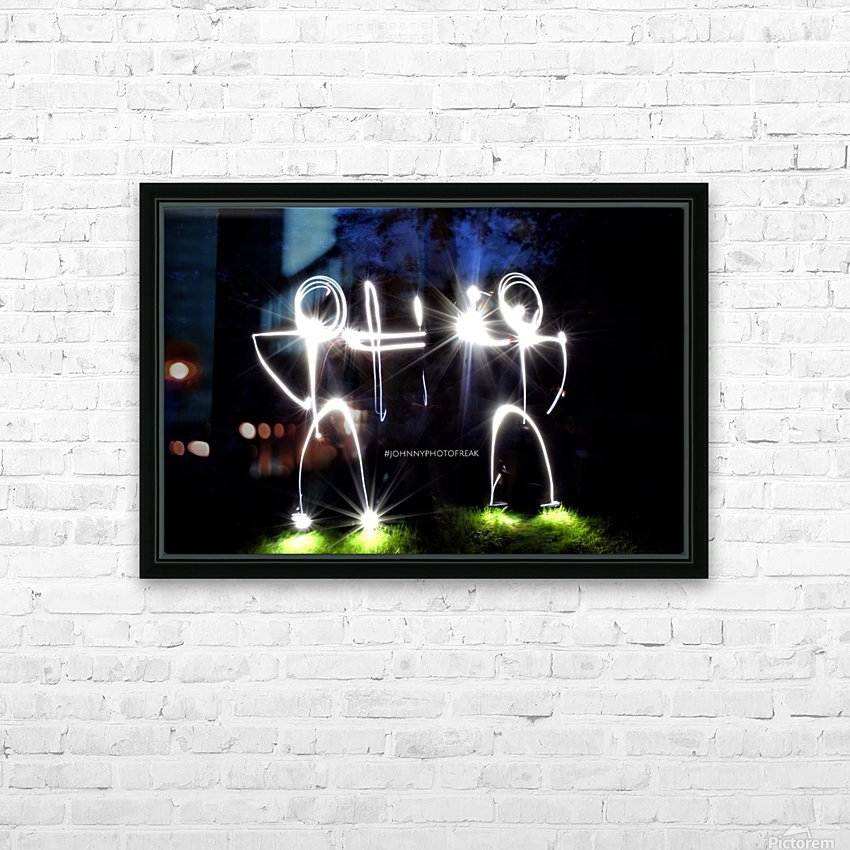 Stickman Bro  HD Sublimation Metal print with Decorating Float Frame (BOX)