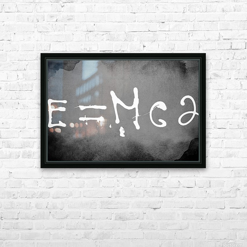 E=mc2 HD Sublimation Metal print with Decorating Float Frame (BOX)