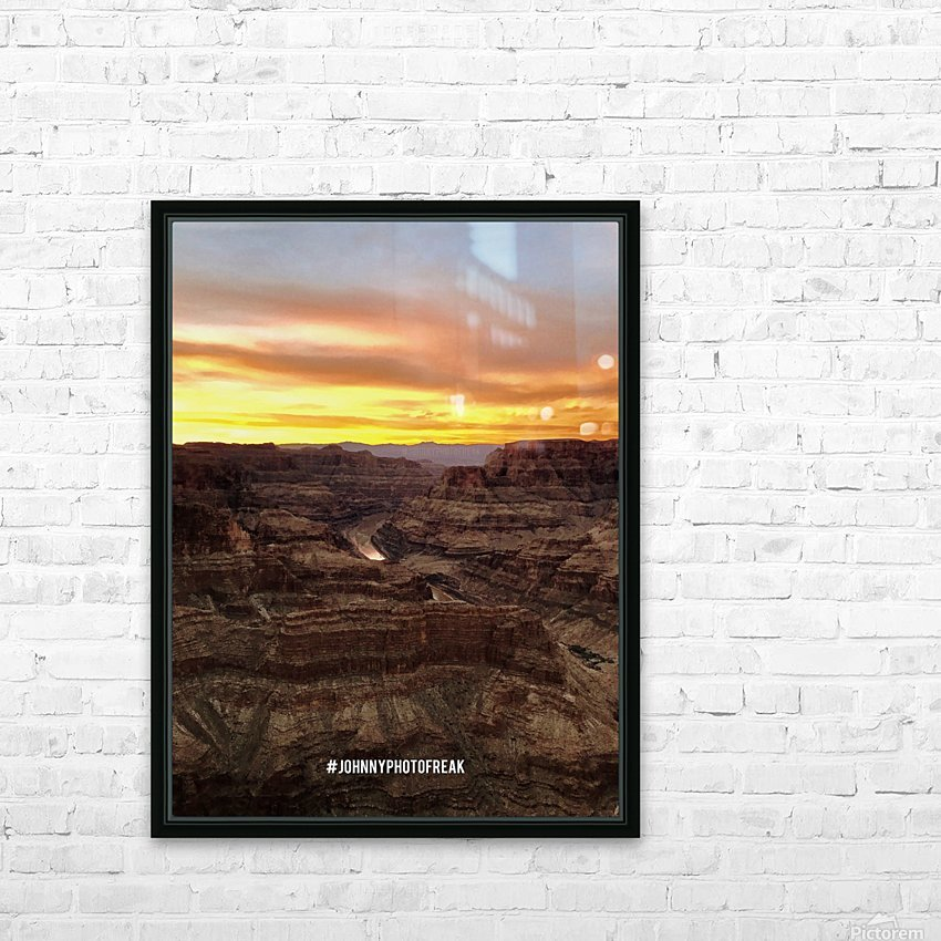 Canyon Sunset HD Sublimation Metal print with Decorating Float Frame (BOX)