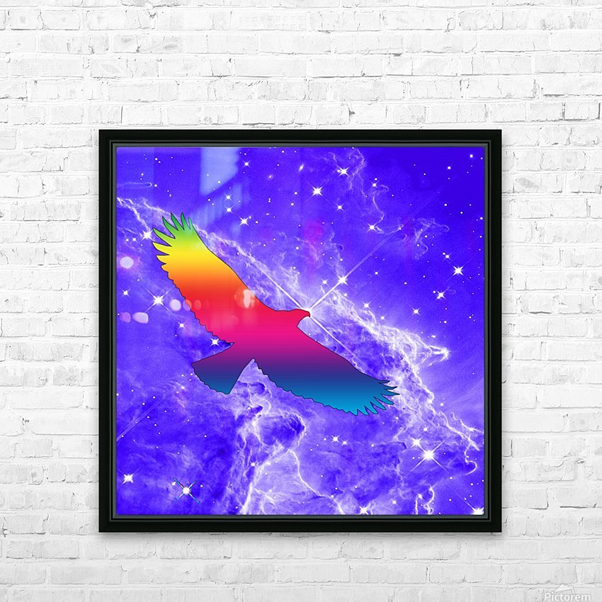 Eagle Star HD Sublimation Metal print with Decorating Float Frame (BOX)