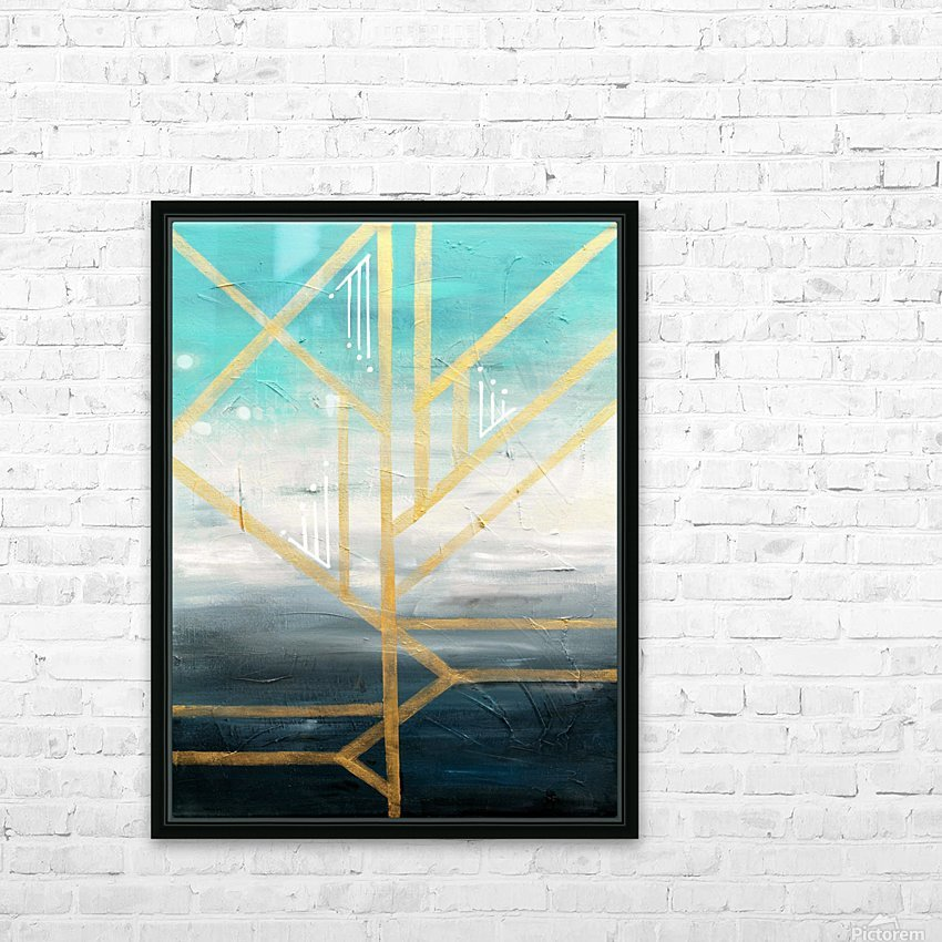 Art deco geometric II HD Sublimation Metal print with Decorating Float Frame (BOX)