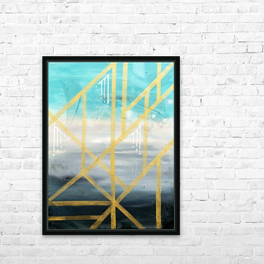 Art deco geometric III HD Sublimation Metal print with Decorating Float Frame (BOX)