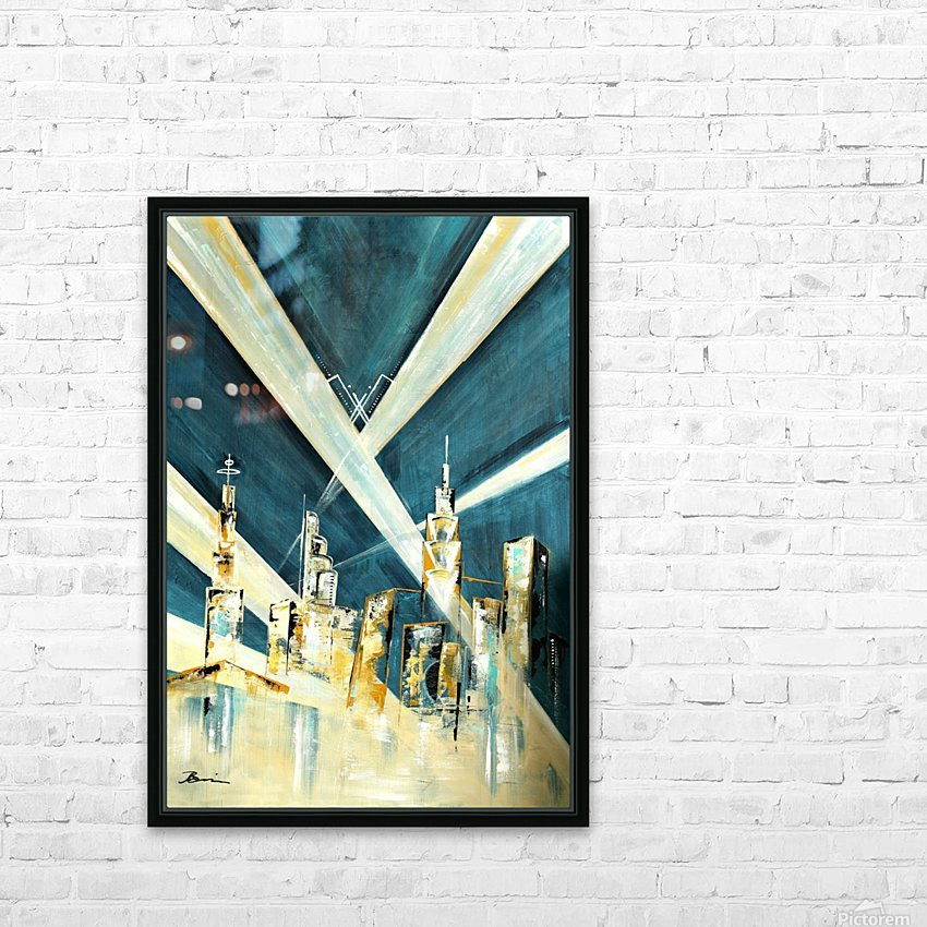 Metropolis I HD Sublimation Metal print with Decorating Float Frame (BOX)