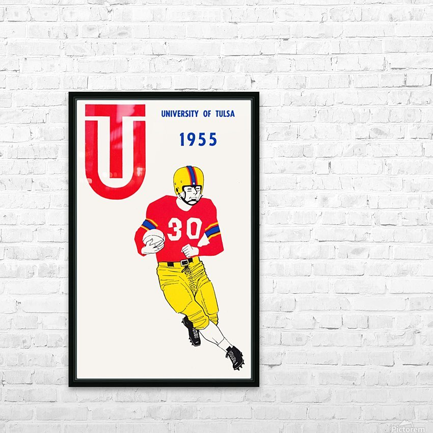 1955 university of tulsa football poster HD Sublimation Metal print with Decorating Float Frame (BOX)