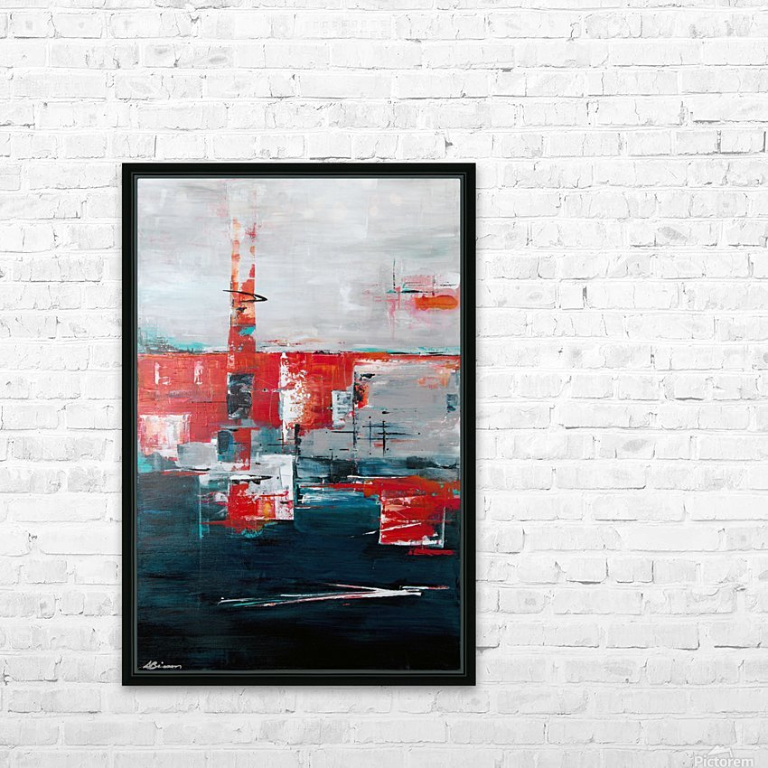 Urban Alley I HD Sublimation Metal print with Decorating Float Frame (BOX)
