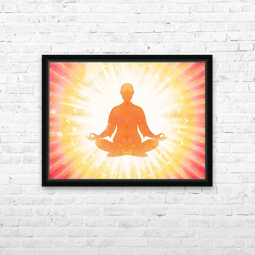 In Meditation - Be The Light HD Sublimation Metal print with Decorating Float Frame (BOX)