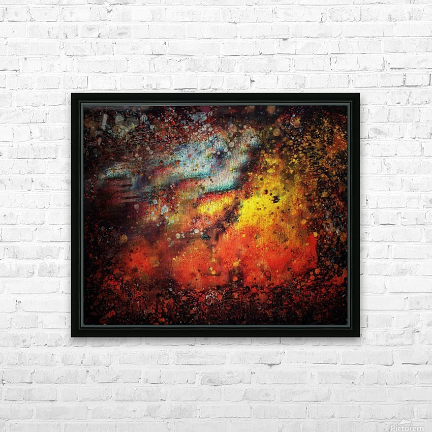 Untitled Abstract  HD Sublimation Metal print with Decorating Float Frame (BOX)