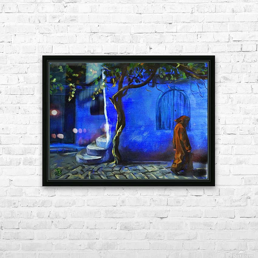 Blue city HD Sublimation Metal print with Decorating Float Frame (BOX)