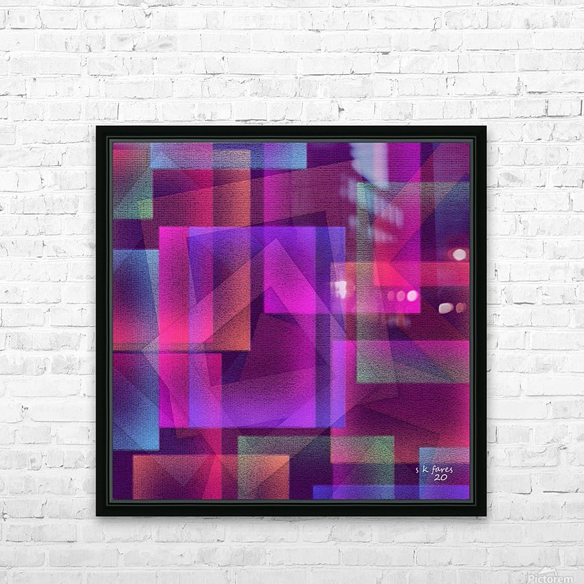 ART A MIX37 HD Sublimation Metal print with Decorating Float Frame (BOX)