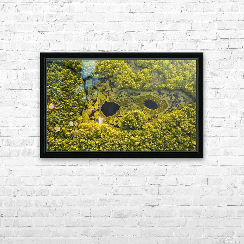 Look from below 01 HD Sublimation Metal print with Decorating Float Frame (BOX)